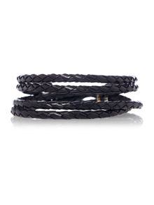 Paul Smith Leather Wrap Plait Bracelet