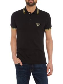 Versace Jeans Tipped triangle logo polo shirt