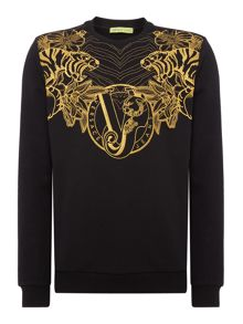Versace Jeans Metallic embroidery sweat top