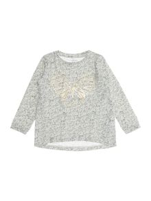 name it Girls Gold Butterfly Long Sleeve T-shirt
