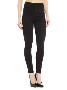 Waven Anika high rise skinny jeans in true black