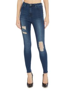 Waven Anika high rise skinny jean in hick blue