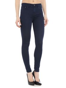 Waven Asa Mid rise skinny jean in Solid Navy