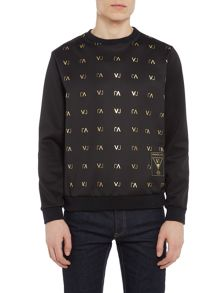 Versace Jeans All-over VJ logo printed sweat top
