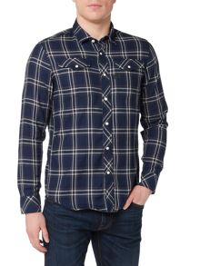G-Star Indigo west check flannel shirt