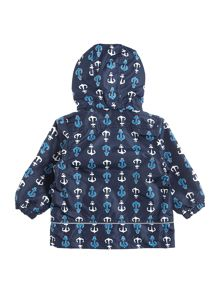 name it Boys Anchor Print Hooded Jacket
