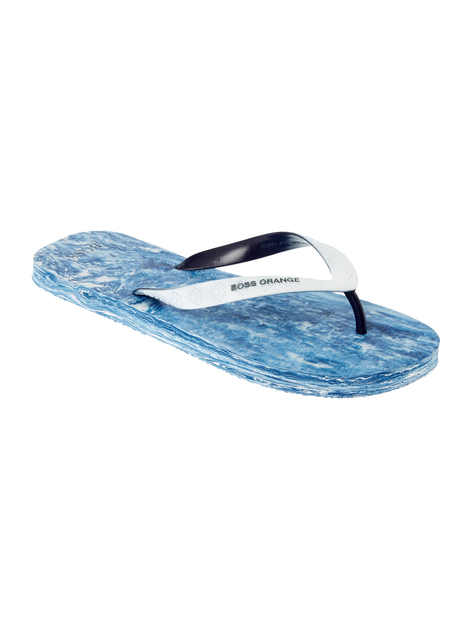 Men's Hugo Boss Logo Flip Flop, Mid Blue