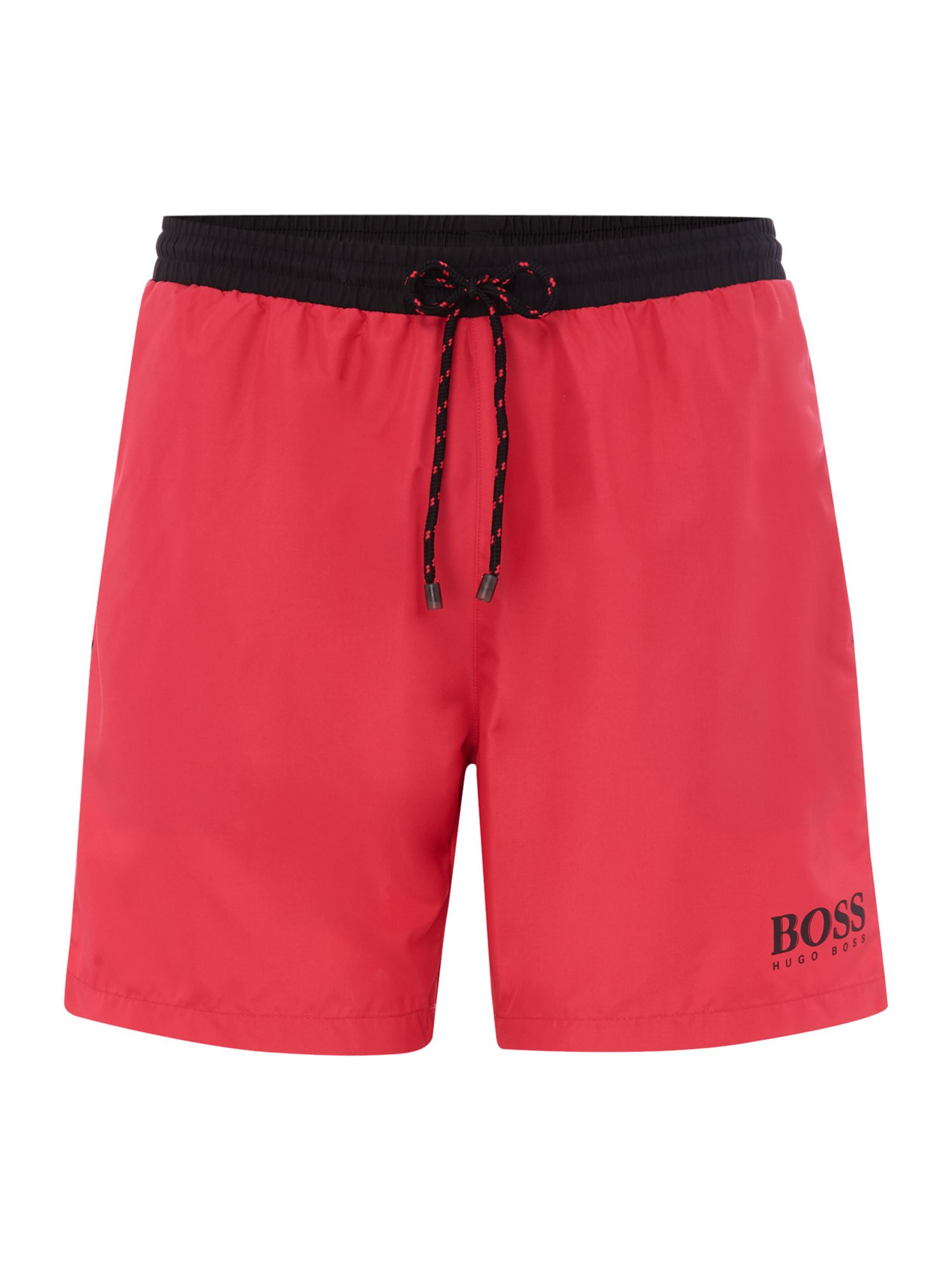 Men's Hugo Boss Starfish Contrast Waistband Logo Short, Hot Pink