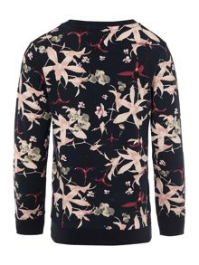 name it Girls Floral Long Sleeve Sweater