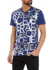 Versace Jeans All-over Foil Text Print T-Shirt