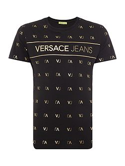 All-over VJ Logo Print T-Shirt