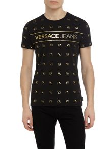 Versace Jeans All-over VJ Logo Print T-Shirt