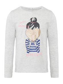name it Girls Heart Long Sleeve T-Shirt