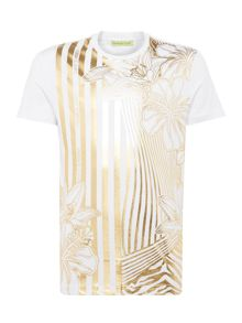 Versace Jeans Foil All-over Floral Print T-Shirt