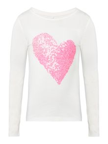 name it Girls Sparkle Heart Long Sleeve T-Shirt