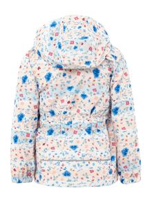 name it Girls Flower Print Hooded Jacket