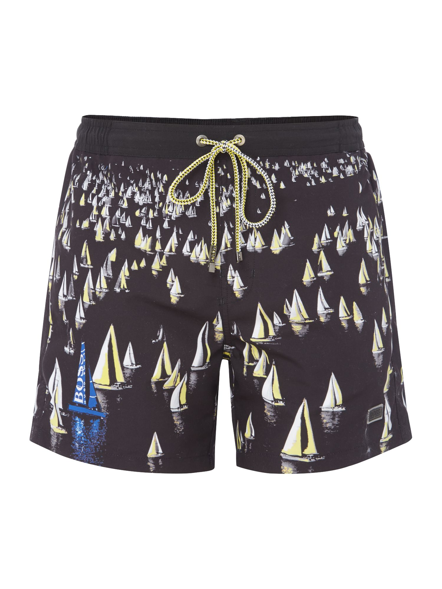 Men's Hugo Boss Mandarinfish Sail Boat Shorts, Black