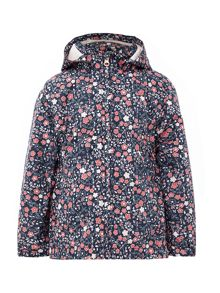 name it Girls Ditsy Floral Print Hooded Jacket