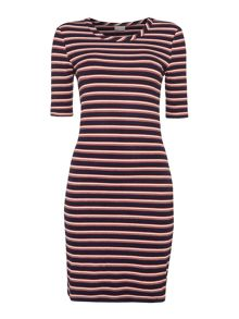 Vero Moda Yeng shortsleeved ribbed bodycon dress