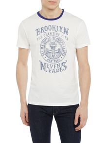Denim and Supply Ralph Lauren Contrast piping graphic t-shirt