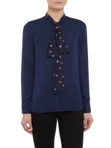 Michael Kors Longsleeve blouse with neck tie