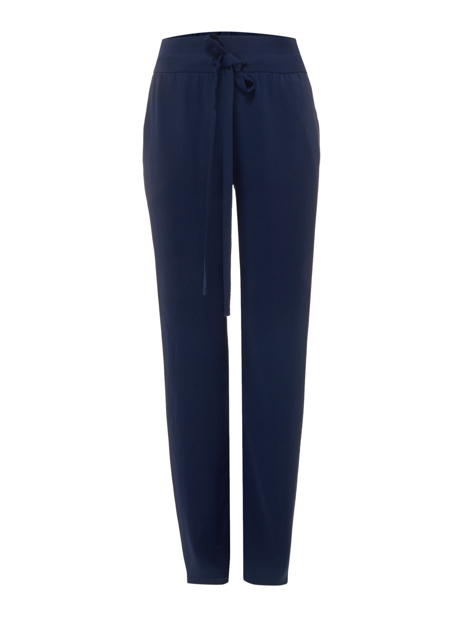 Michael Kors Self tie waist relax fit trouser, Blue