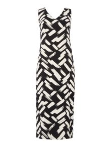 Linea Brush stroke back detail dress