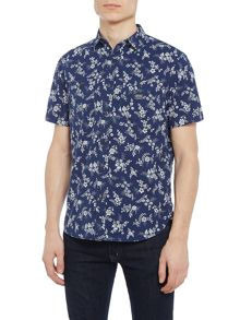 Denim and Supply Ralph Lauren Short sleeve floral print shirt with pockets