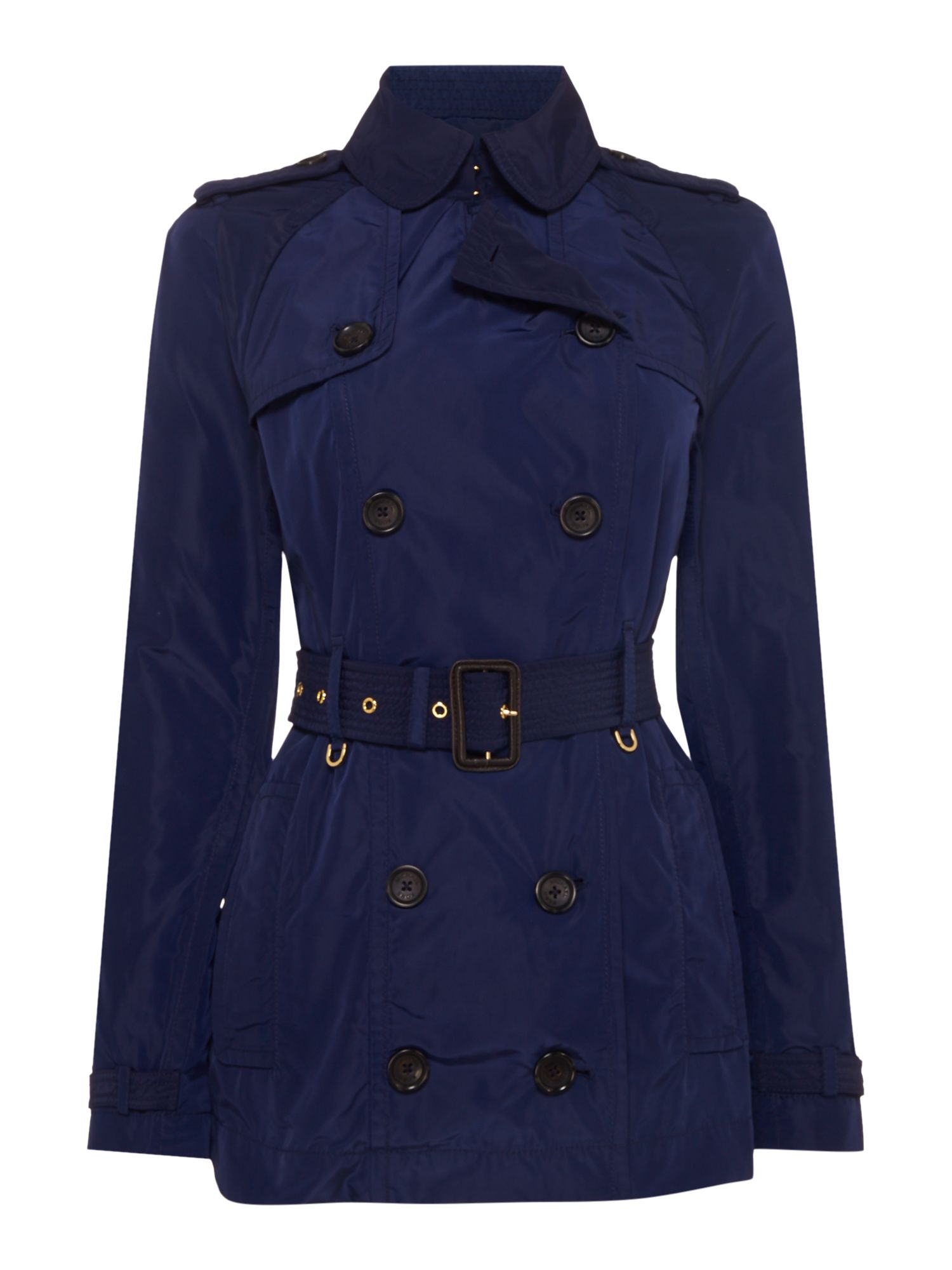 Michael Kors Longsleeve lightweight trench coat, Blue