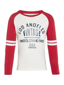 name it Boys Vintage Raglan Long Sleeve T-Shirt