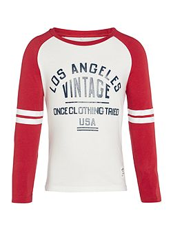Boys Vintage Raglan Long Sleeve T-Shirt