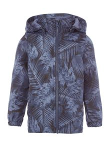 name it Boys Leaf Print Hooded Jacket