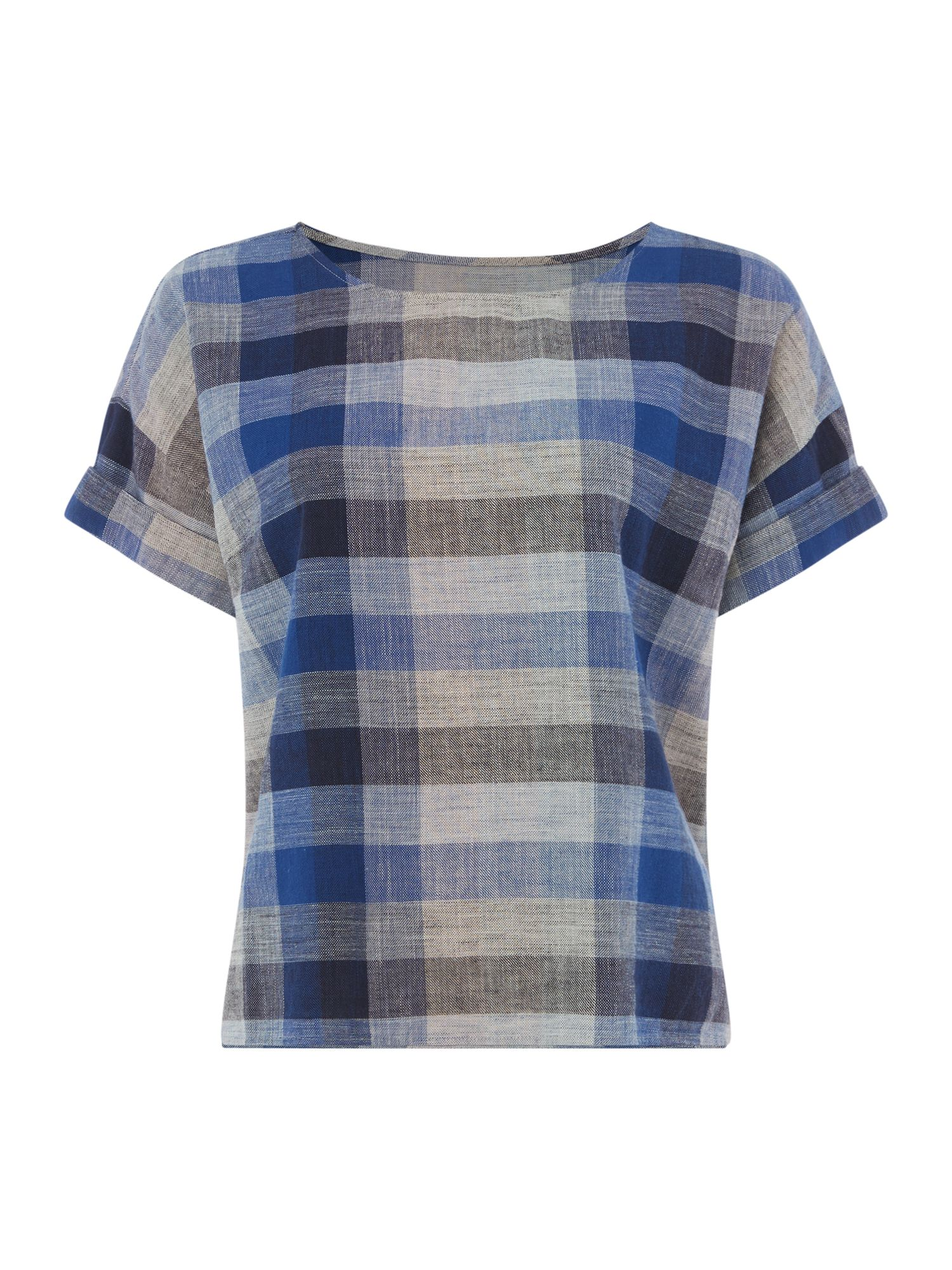 Maison De Nimes Picnic Check Top, Blue