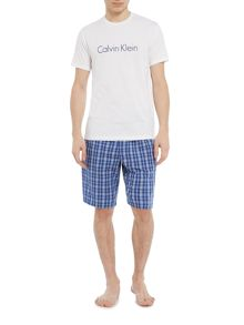 Calvin Klein Large Chest Logo Crew Neck Tshirt and Short Set