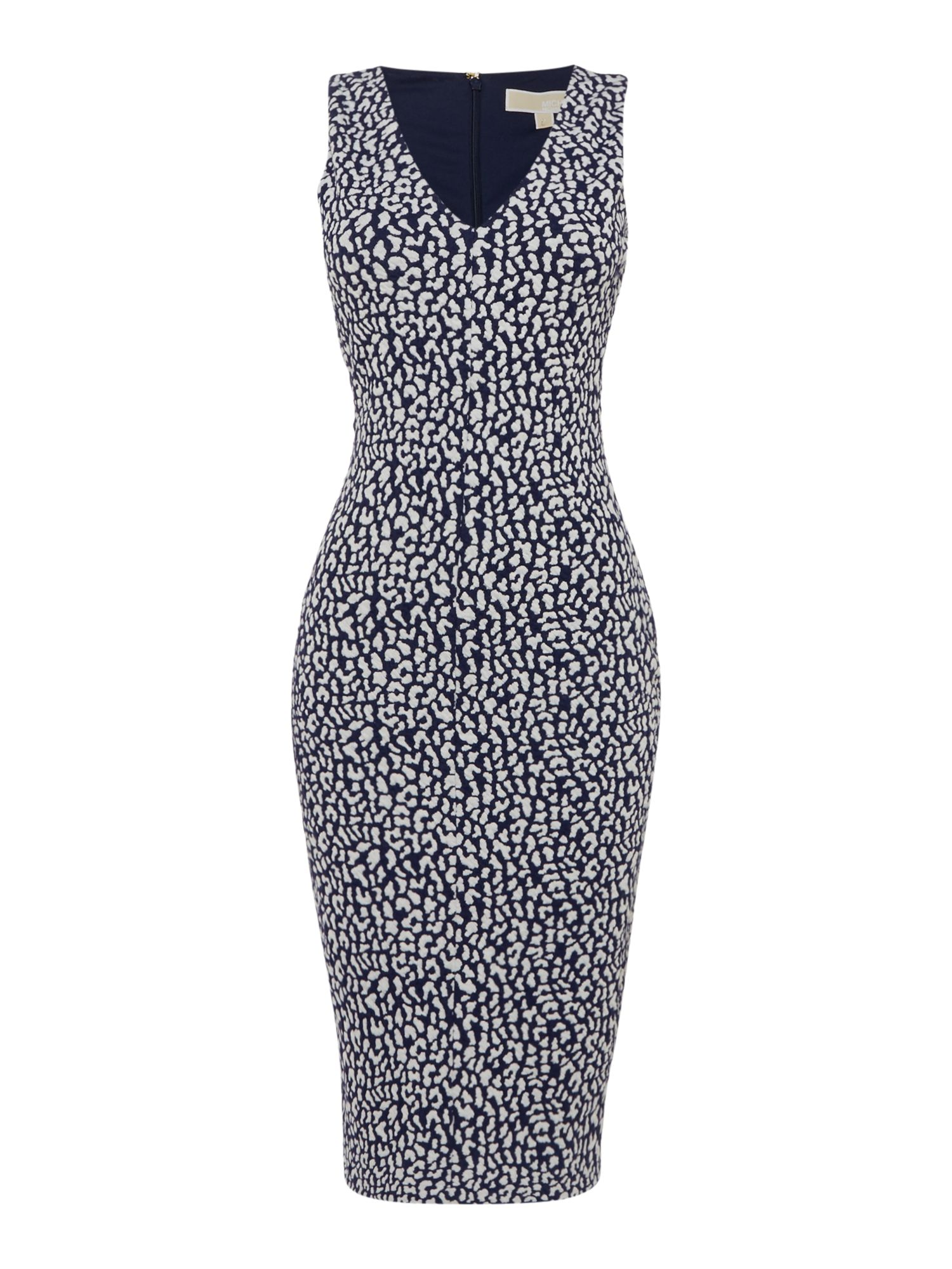 Michael Kors Sleeveless sporty jacquard v enck dress Navy