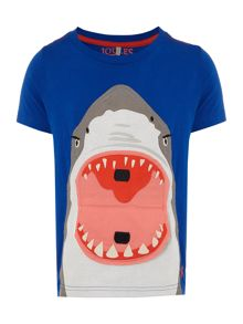 Joules Boys Open Mouth Shark Applique T-Shirt