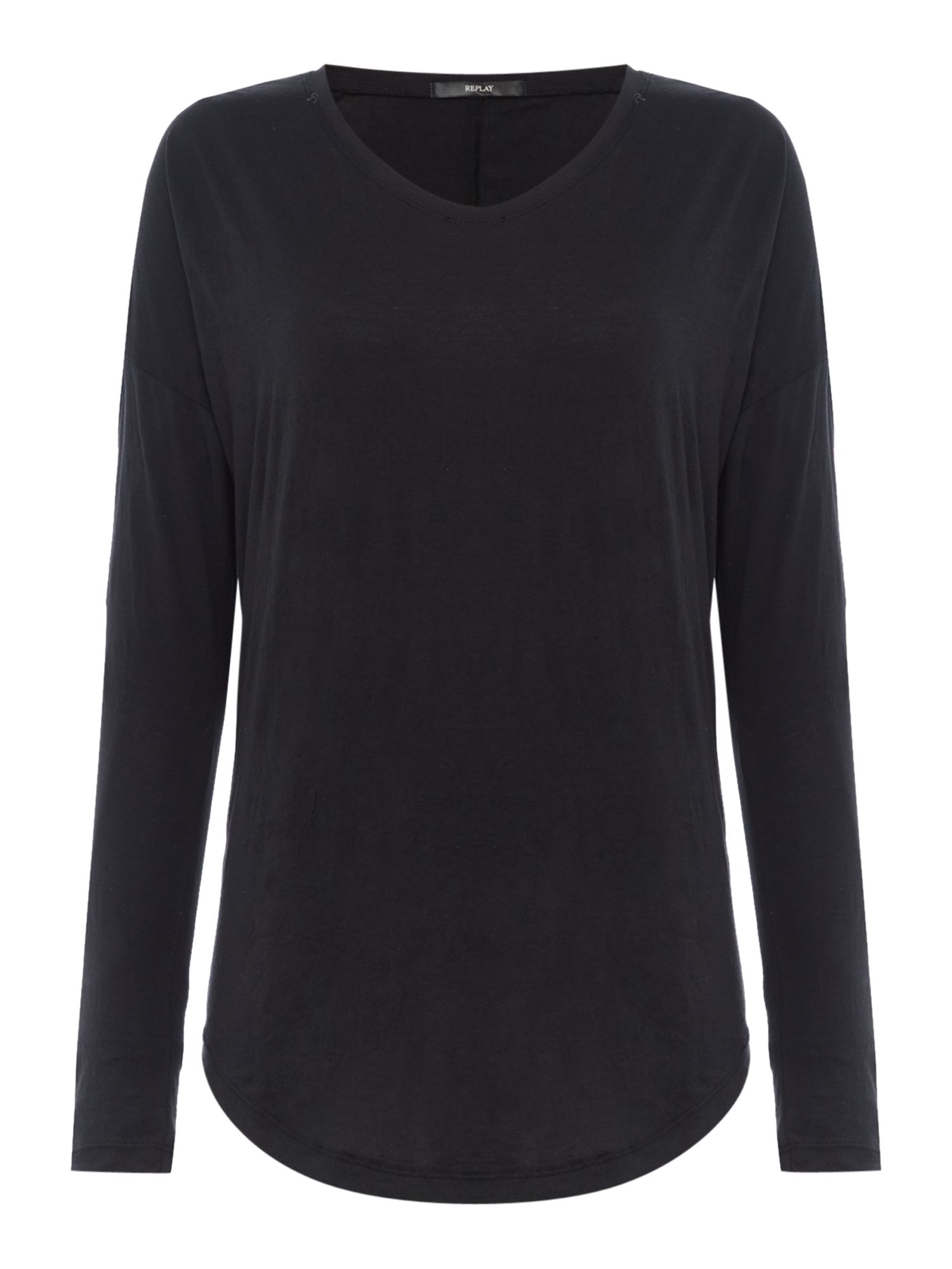 Replay Comfort-fit cotton T-shirt, Black