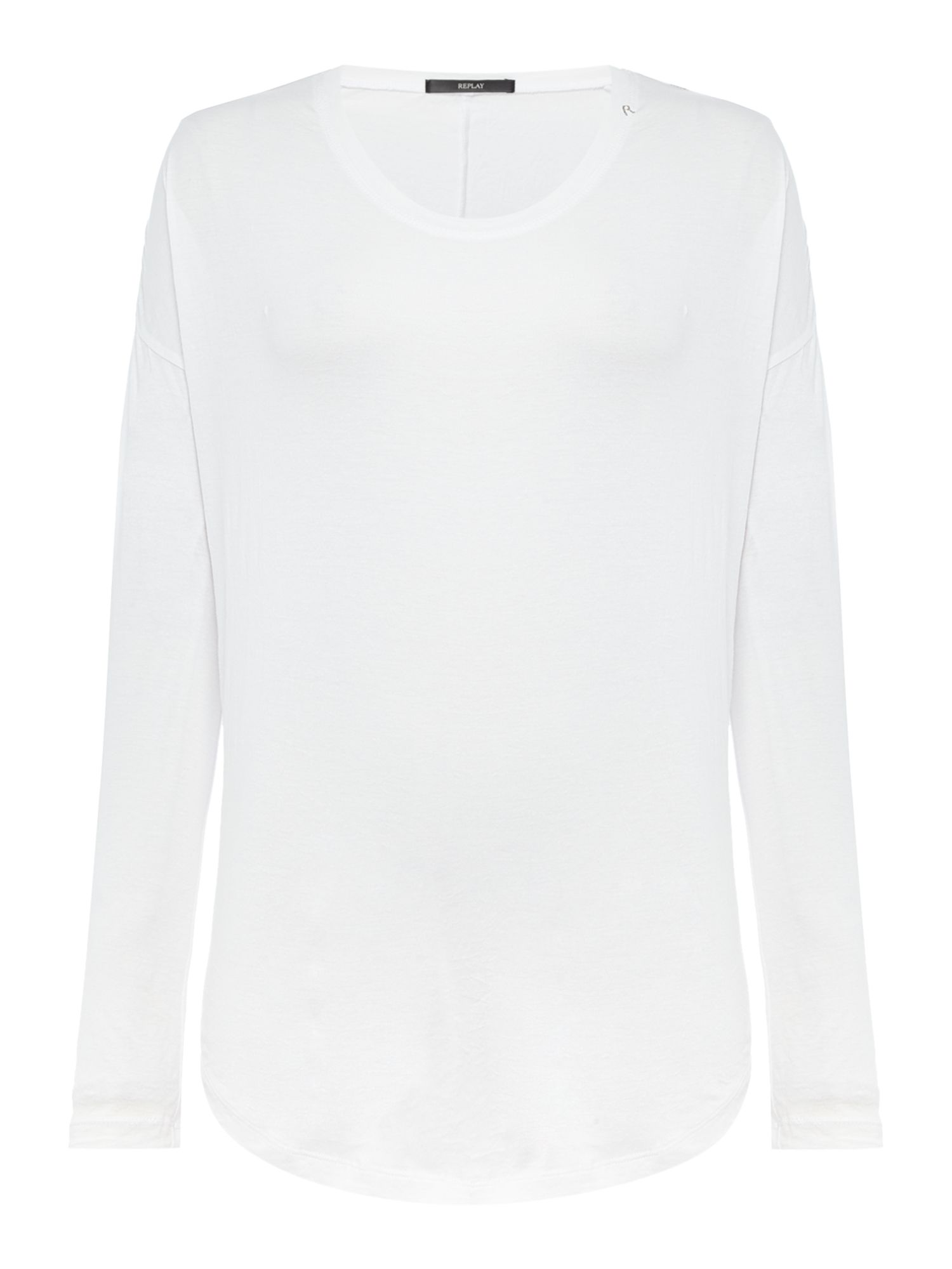 Replay Comfort-fit cotton T-shirt, White
