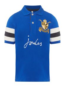 Joules Boys Badge Logo Short Sleeve Polo Shirt