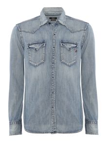 Replay Denim shirt with patch pockets