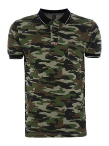 Replay Camouflage-print pique polo shirt