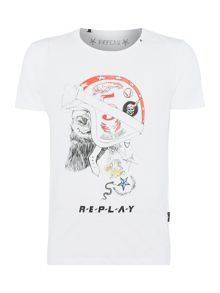 Replay Printed cotton T-shirt