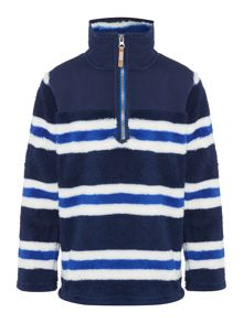 Joules Boys Stripe Half Zip Fleece