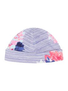 Joules Baby Reversible Stripe Floral Hat