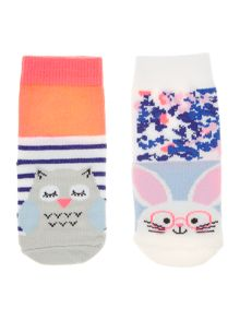 Joules Baby Bunny and Owl Socks 2 Pack