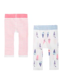Joules Baby Ice Cream 2 Pack Leggings