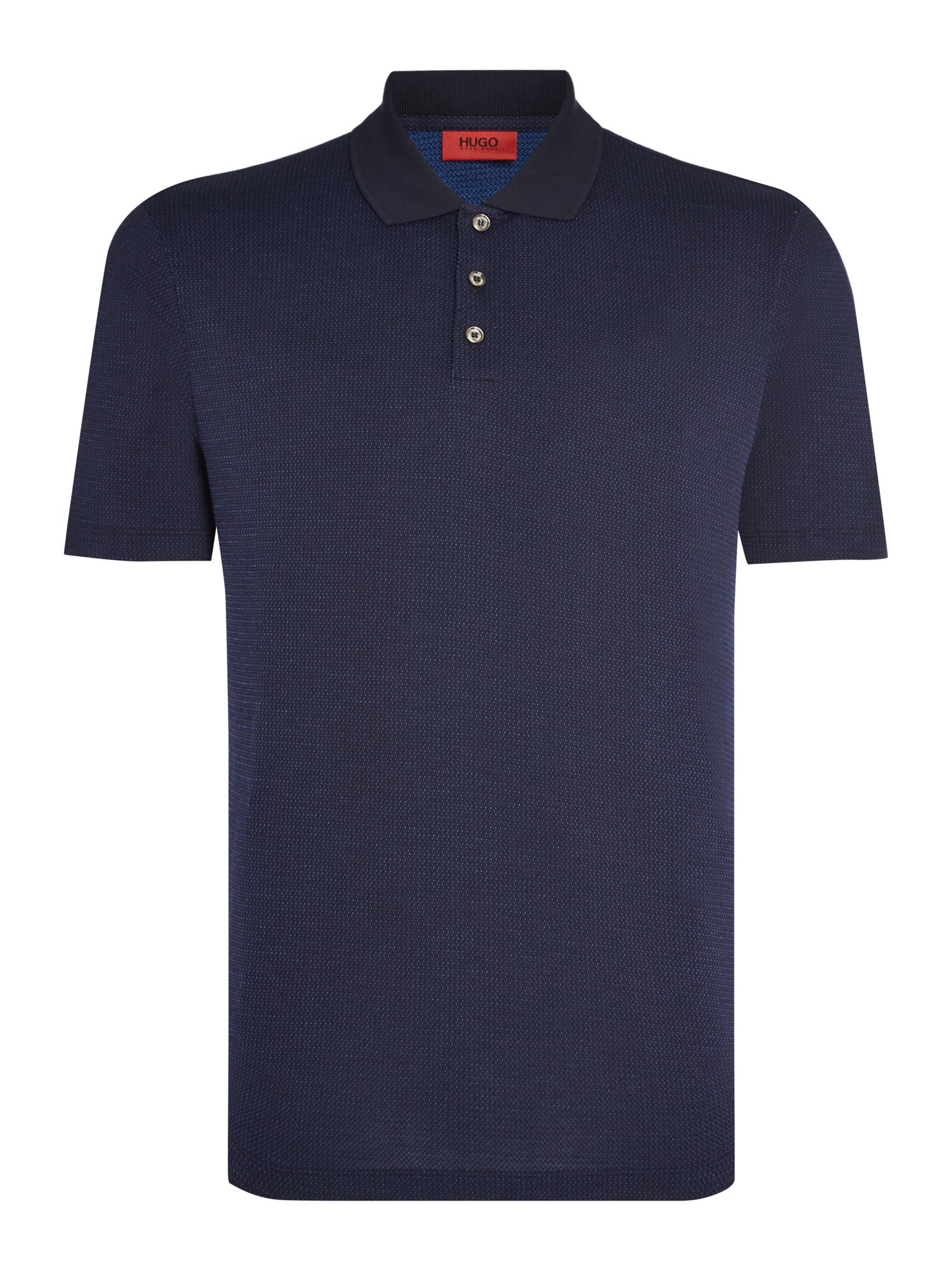 Men's Hugo Dateno Mini Jacquard Polo Shirt, Blue