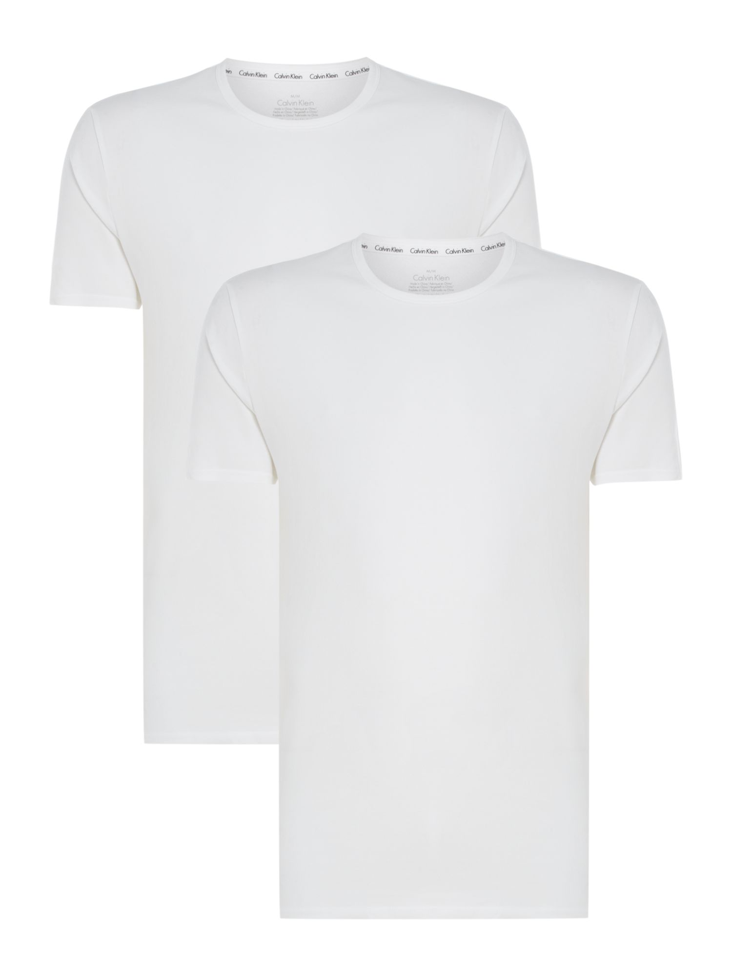 Men's Calvin Klein 2-Pack ID Crew Neck T-Shirt, White