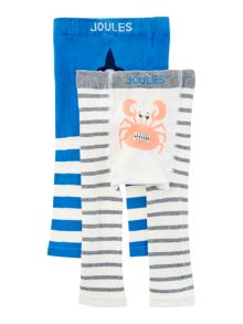 Joules Baby Shark and Crab Leggings 2 Pack