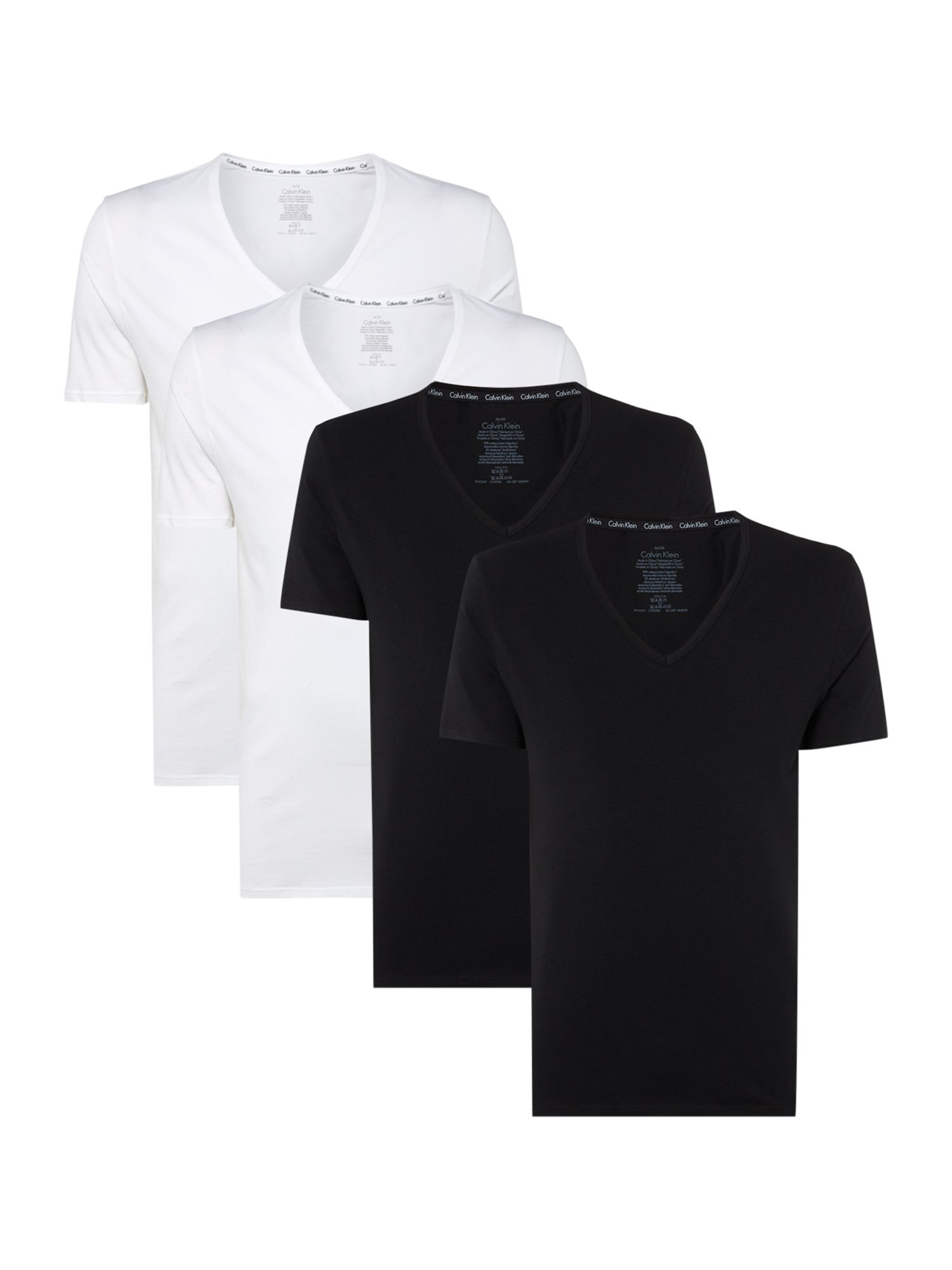 Men's Calvin Klein 2-Pack ID V-Neck T-Shirts, Black